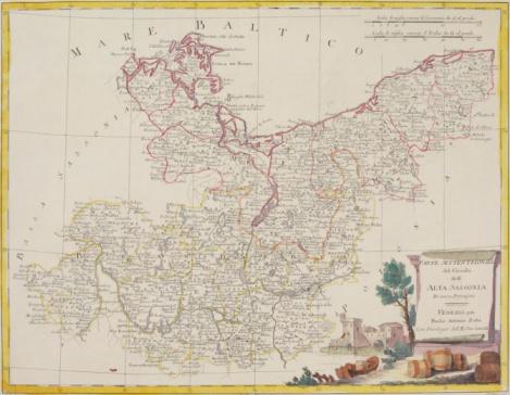 Latitude「Antique map of peninsula on coast of northern Germany」:スマホ壁紙(2)