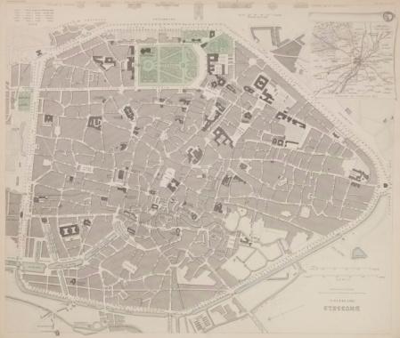 Durability「Antique map of plans for Brussels , Belgium」:スマホ壁紙(17)