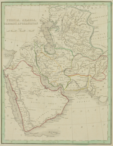 Latitude「Antique map of Persia , Arabia , Tartary , and Afghanistan」:スマホ壁紙(17)