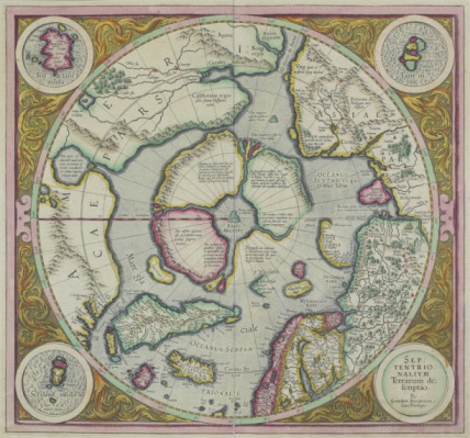Latitude「Antique map of the north pole with insets」:スマホ壁紙(17)