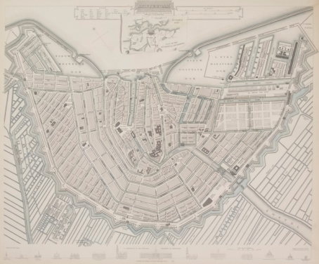 Amsterdam「Antique map of Amsterdam , Holland」:スマホ壁紙(15)