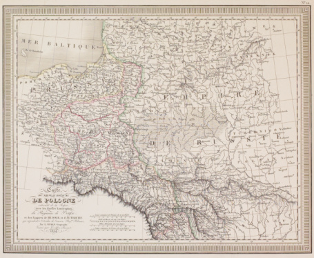 Latitude「Antique map of Poland」:スマホ壁紙(4)
