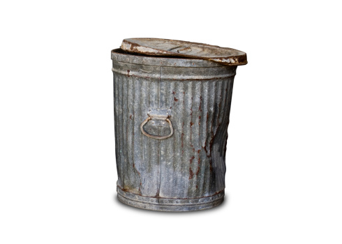 Industrial Garbage Bin「Old Trashcan - Clipping Path」:スマホ壁紙(5)