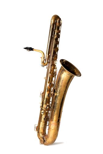 Blues Music「Bass saxophone isolated」:スマホ壁紙(13)