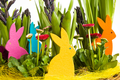 Easter Bunny「Easter decoration, close-up」:スマホ壁紙(0)