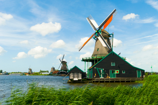 Amsterdam「Zaanse Schans Windmills, Netherlands.」:スマホ壁紙(2)