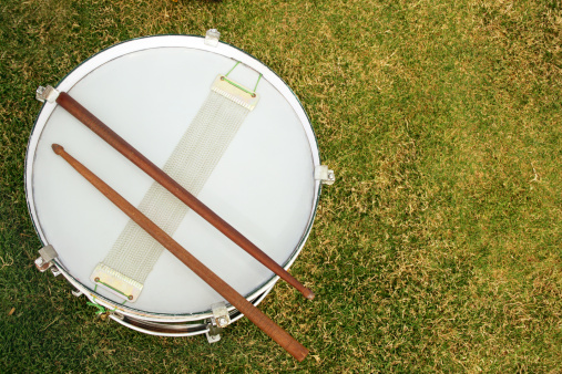 Drum Kit「Top angle view of a drum」:スマホ壁紙(15)