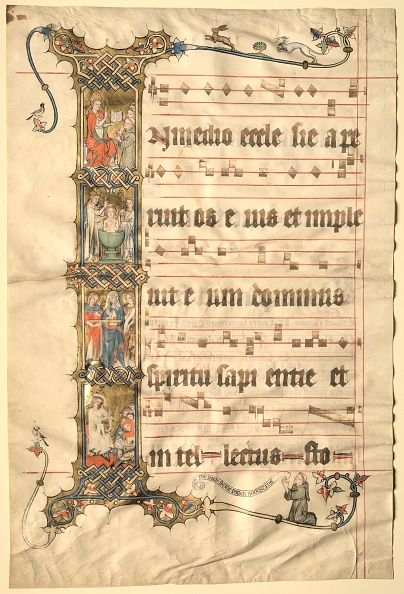 Circa 14th Century「Leaf From The Wettinger Gradual: Historiated Initial (I)...」:写真・画像(10)[壁紙.com]