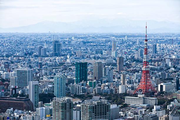 Tokyo Tower and skyscrapers.:スマホ壁紙(壁紙.com)