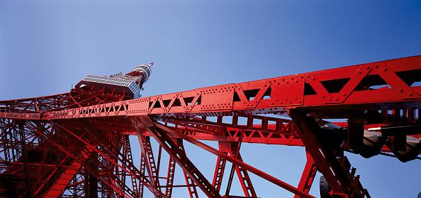 Tokyo Tower「Tokyo Tower from below, Tokyo, Japan」:スマホ壁紙(12)