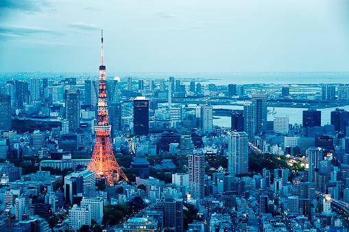 Tokyo Tower「Tokyo Tower Skyline at Dusk」:スマホ壁紙(14)