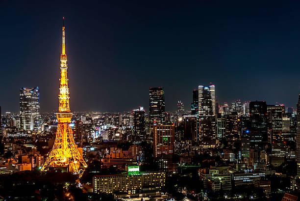 Tokyo Tower by night:スマホ壁紙(壁紙.com)