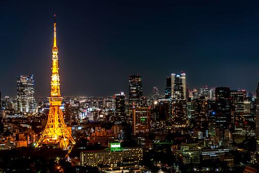 Tokyo Tower「Tokyo Tower by night」:スマホ壁紙(12)