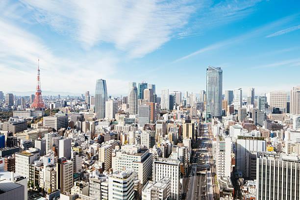 Tokyo tower and cityscape:スマホ壁紙(壁紙.com)
