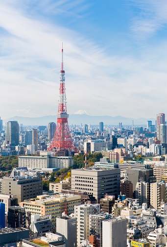 Tokyo Tower「Tokyo tower and cityscape」:スマホ壁紙(15)