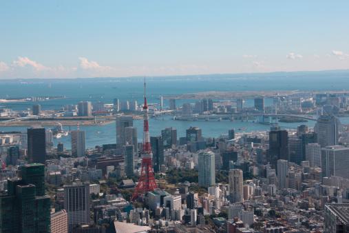 Land Feature「Tokyo tower, Minato ward, Tokyo Prefecture, Honshu, Japan」:スマホ壁紙(3)
