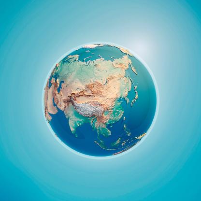 Himalayas「China 3D Render Planet Earth」:スマホ壁紙(19)