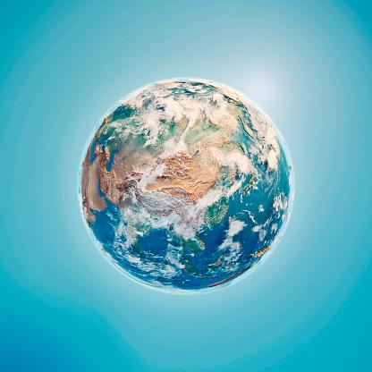 Himalayas「China 3D Render Planet Earth Clouds」:スマホ壁紙(8)