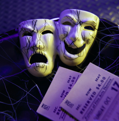 俳優「Comedy and tragedy theater masks」:スマホ壁紙(18)