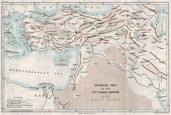 Mediterranean Sea「Physical Map Of The Ottoman Empire」:写真・画像(12)[壁紙.com]