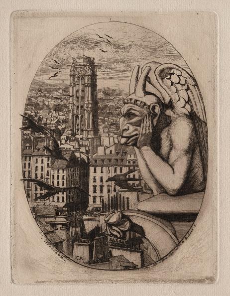 Etching「Etchings Of Paris: The Gargoyle」:写真・画像(8)[壁紙.com]