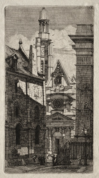 Etching「Etchings Of Paris: Church Of St. Stephen Of The Mount」:写真・画像(6)[壁紙.com]