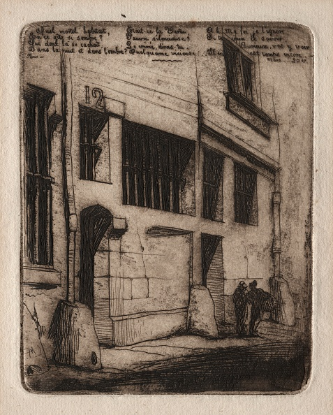 Etching「Etchings Of Paris: The Street Of The Bad Boys」:写真・画像(9)[壁紙.com]