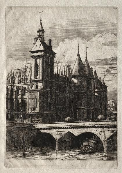 Etching「Etchings Of Paris: The Clock Tower」:写真・画像(7)[壁紙.com]