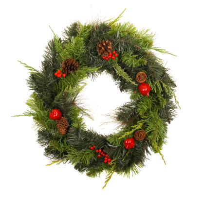 Pine Cone「Wreath with pinecones and  berries」:スマホ壁紙(15)