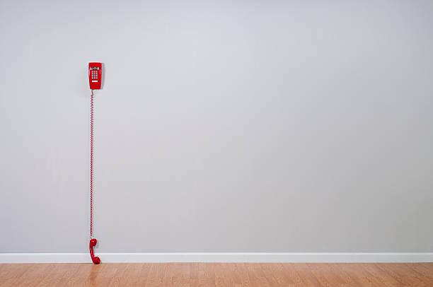 Red Telephone In Empty Room:スマホ壁紙(壁紙.com)