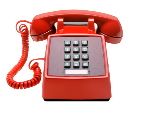 Push Button「Red Telephone isolated on white」:スマホ壁紙(5)