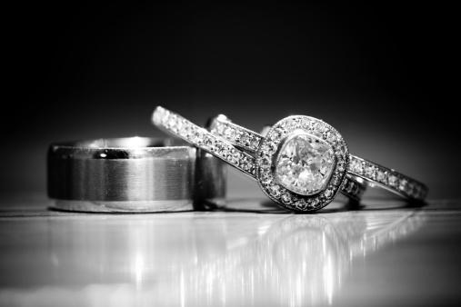 結婚「B &W リング」:スマホ壁紙(7)