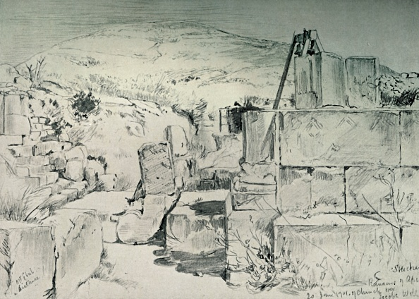 Pencil「Apse Of The Fourth Century Church Over Jacobs Well At Shechum (Nablus) 1」:写真・画像(4)[壁紙.com]