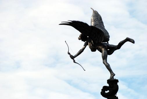 Cupid「キューピッド像シルエットでセフトン公園」:スマホ壁紙(5)