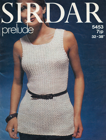 Knitted「'Sirdar prelude' knitting pattern - woman wearing a knitted sweater vest」:写真・画像(11)[壁紙.com]