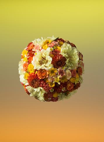Bouquet「Sphere shaped floral arrangement」:スマホ壁紙(1)