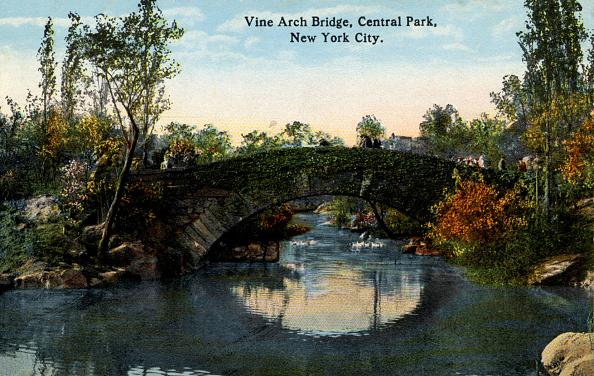 マンハッタン セントラルパーク「Early 20th century New York: Vine Arch Bridge」:写真・画像(1)[壁紙.com]