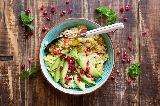 Bulgur Wheat「Vegan bulgur salad in bowl」:スマホ壁紙(3)