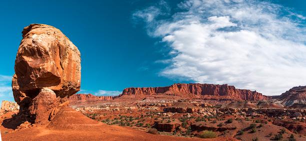 Capitol Reef National Park「Rock turret panoramic in Utah」:スマホ壁紙(19)