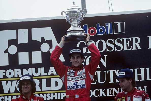 Alain Prost「Ayrton Senna, Alain Prost, Gerhard Berger, Grand Prix Of Germany」:写真・画像(15)[壁紙.com]
