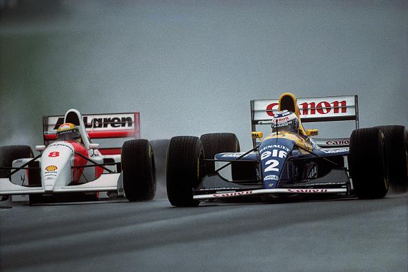 Alain Prost「Ayrton Senna, Alain Prost, Grand Prix Of Europe」:写真・画像(14)[壁紙.com]