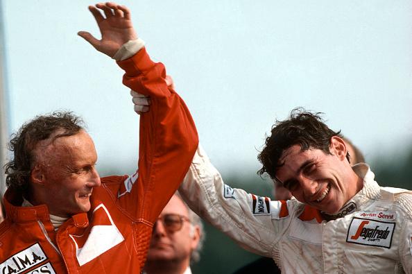 アイルトン・セナ「Ayrton Senna, Niki Lauda, Grand Prix Of Great Britain」:写真・画像(4)[壁紙.com]