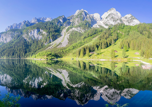 Dachstein Mountains「Gosausee Mirror」:スマホ壁紙(19)