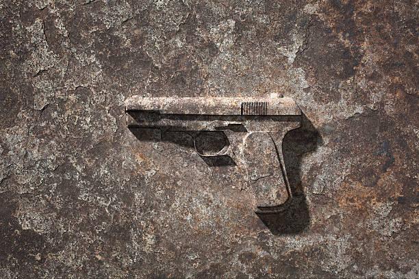 Handgun which became stone:スマホ壁紙(壁紙.com)