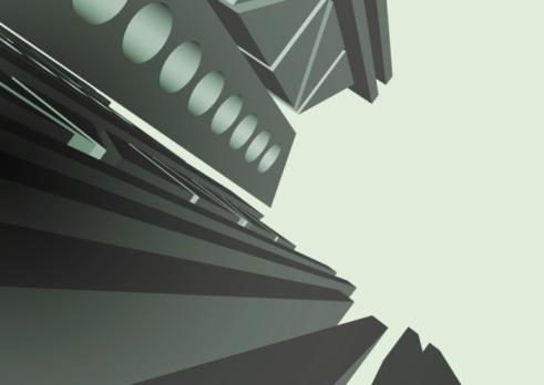 Contour Drawing「Buildings」:スマホ壁紙(11)