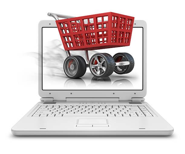 cart in laptop:スマホ壁紙(壁紙.com)