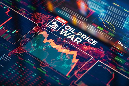 Uncertainty「Oil Price War Background」:スマホ壁紙(11)