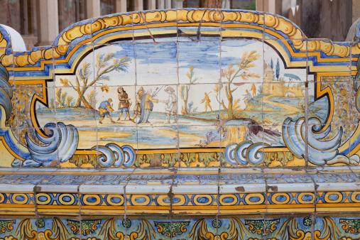 Convent「Cloister of Santa Chiara in Naples , Italy」:スマホ壁紙(8)