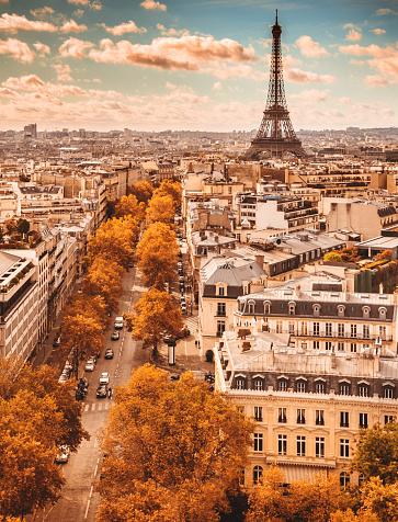 France「Tour eiffel tower aerial view」:スマホ壁紙(14)
