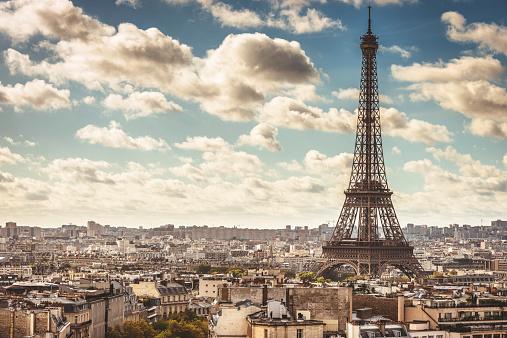 France「Tour eiffel tower aerial view」:スマホ壁紙(4)